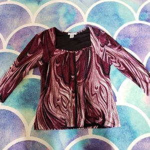 30% Off Bundles Dress Barn Purple and Black Long S
